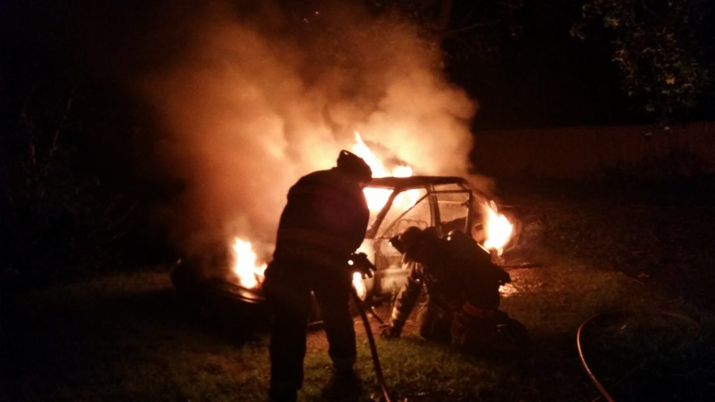 TWO CARS BURN ON SOUTH PENNSYLVANIA